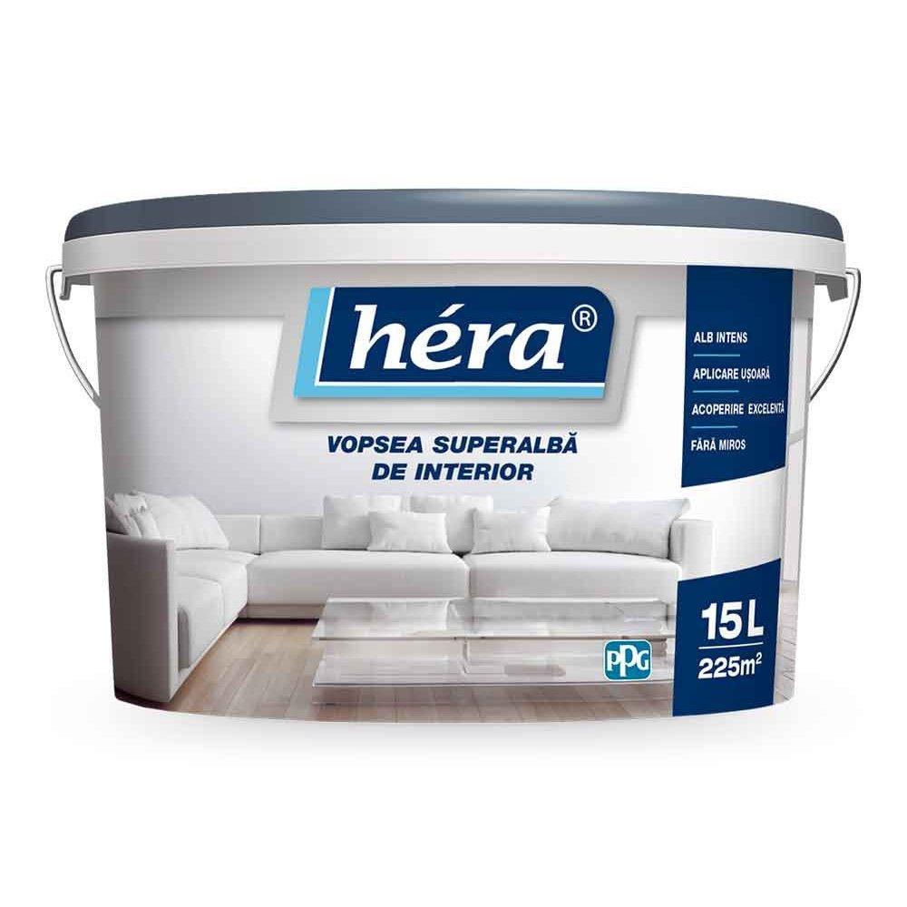 HERA vopsea lavabilă pentru interior 15l superalbă