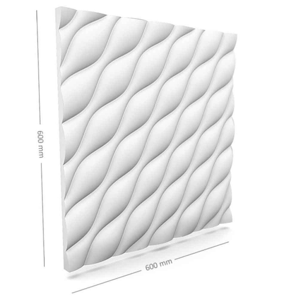Panou decorativ 3D din polistiren pentru perete sau tavan, 60cm x 60cm, grosime 3cm, model DESERT