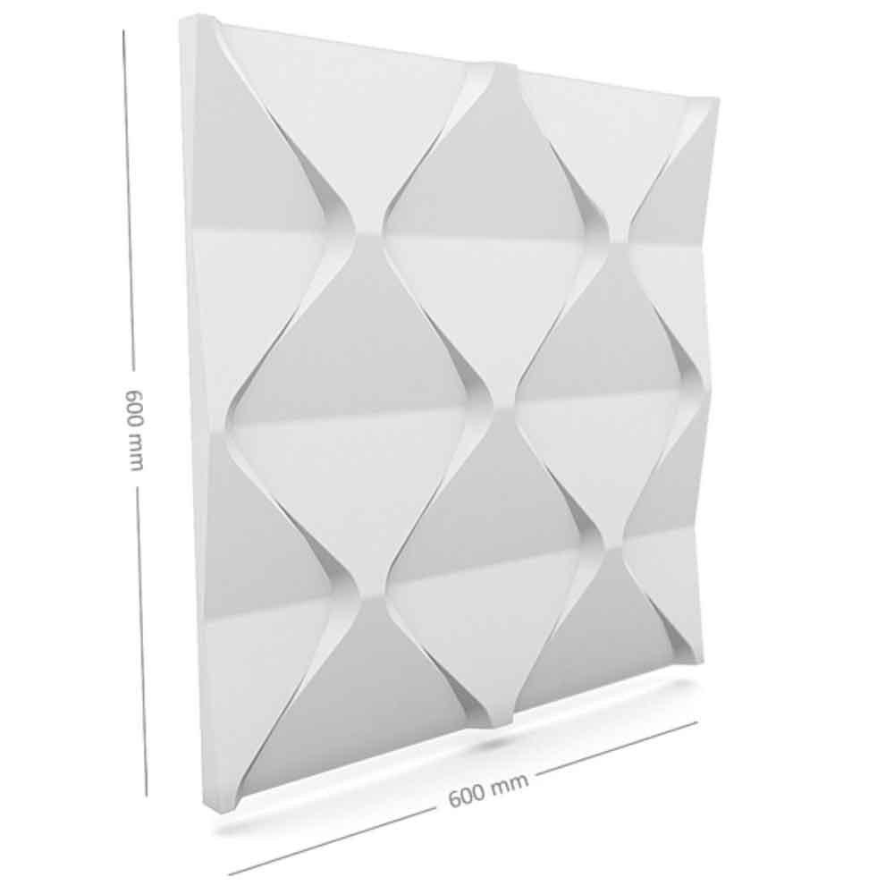 Panou decorativ 3D din polistiren pentru perete sau tavan, 60cm x 60cm, grosime 3cm, model HARMONY