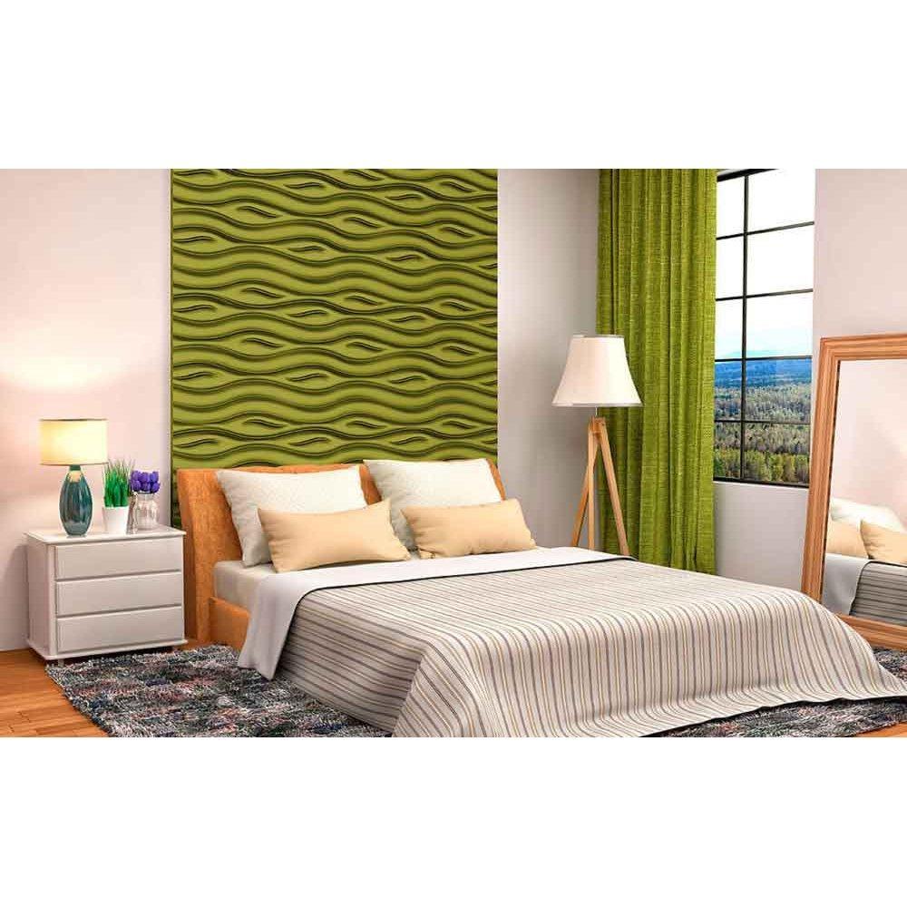 Panou decorativ 3D din polistiren pentru perete sau tavan, 60cm x 60cm, grosime 3cm, model OCEAN