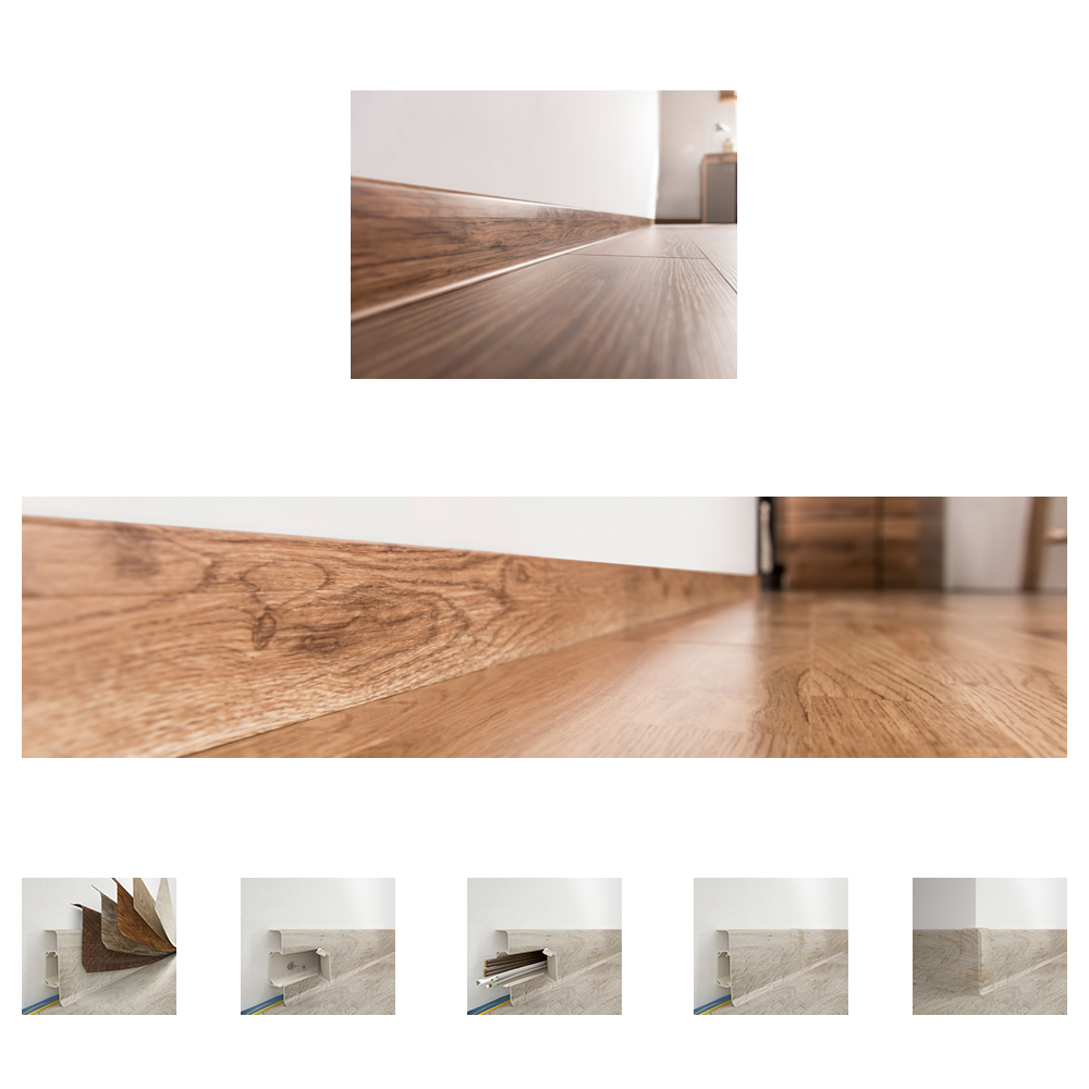 Plintă Esquero pentru parchet 6.66cm x 2.5m