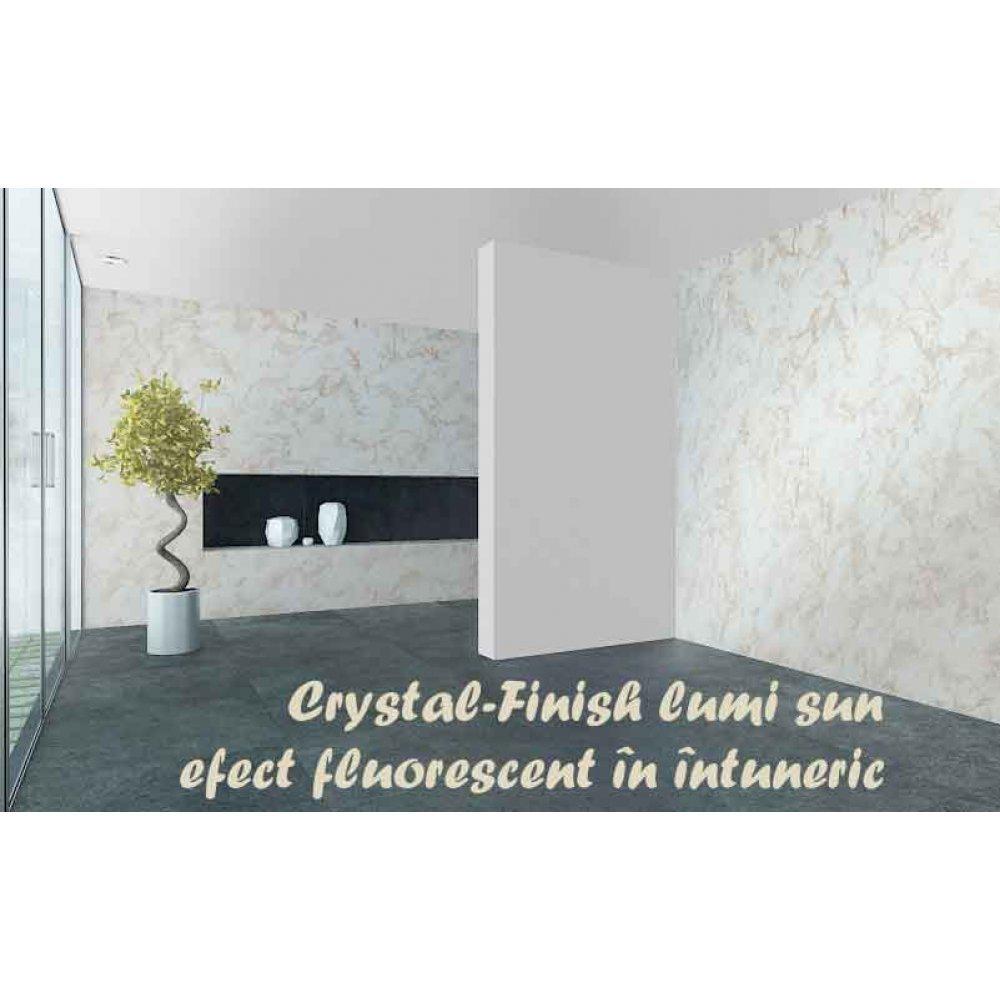 Vopsea decorativă cu efect de cristal 750ml pentru interior Crystal-Finish Lumi Sun
